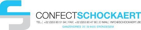 Confect Schockaert - TEL.: +32 (0)53 80 51 94  FAX: +32 (0)53 80 47 90  E-MAIL: info@schockaert.be - GANZENDRIES 25 - B 9420 ERONDEGEM